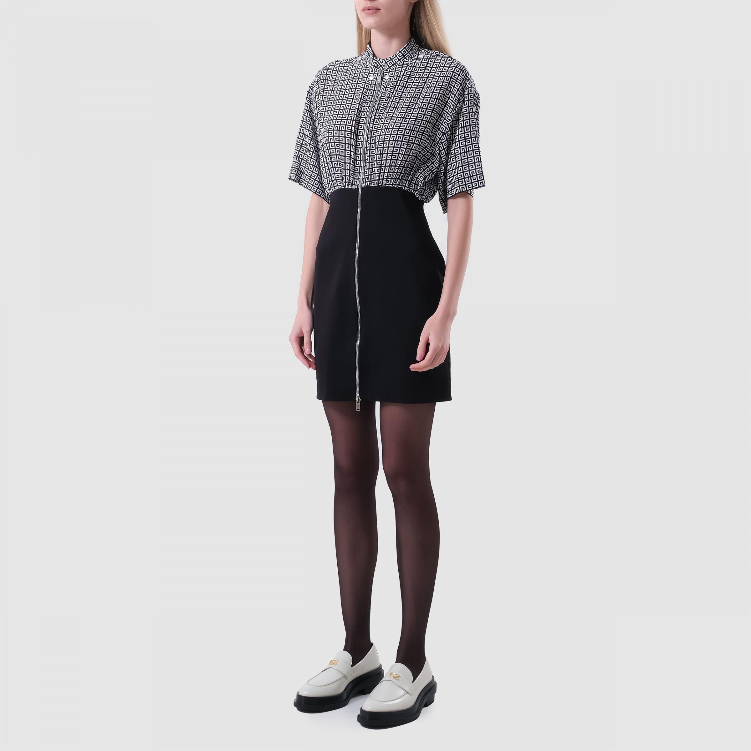 Платье Givenchy черно-белое