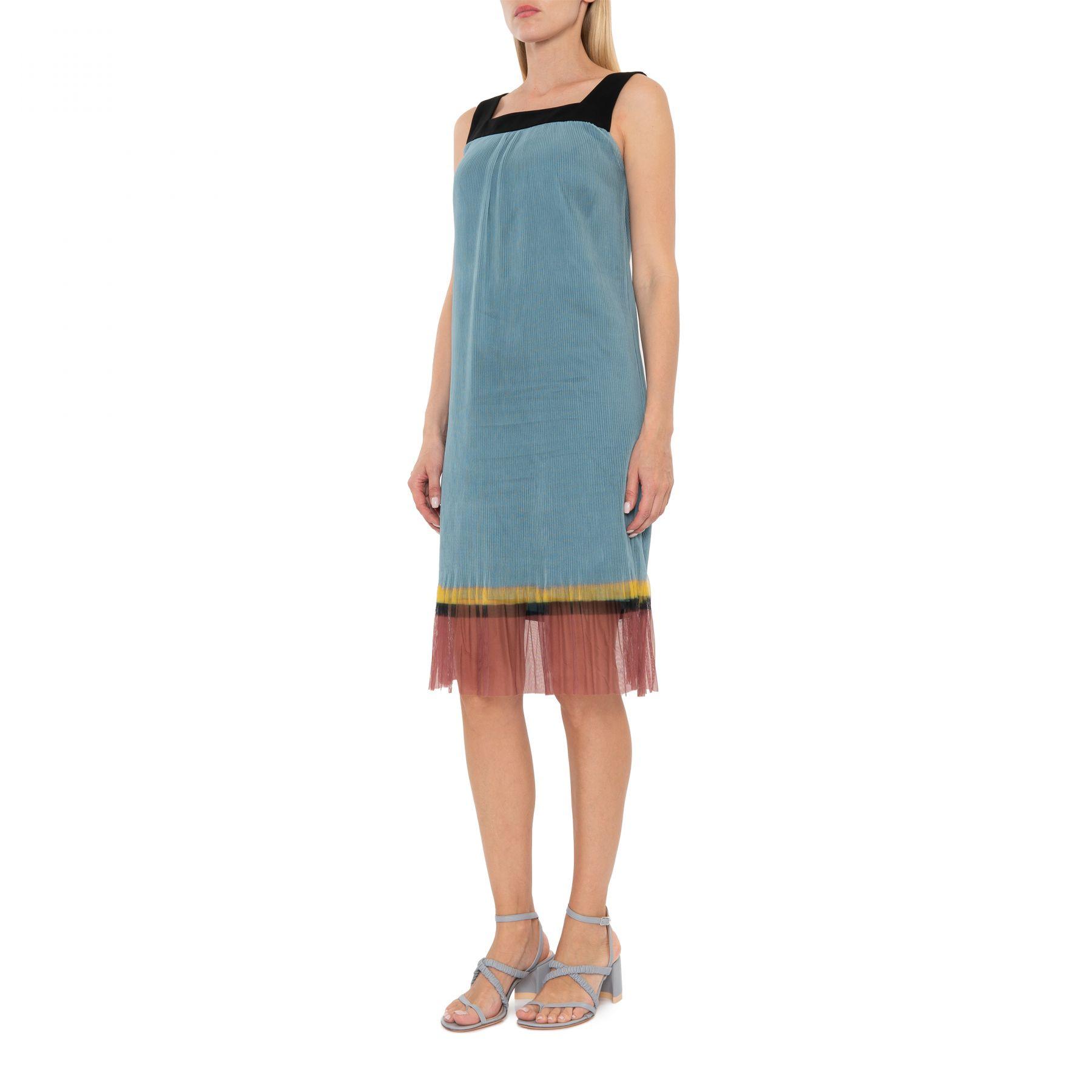 Платье Dries Van Noten голубое