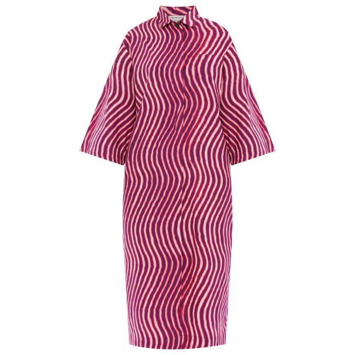 Платье Dries Van Noten Dolari розово-белое