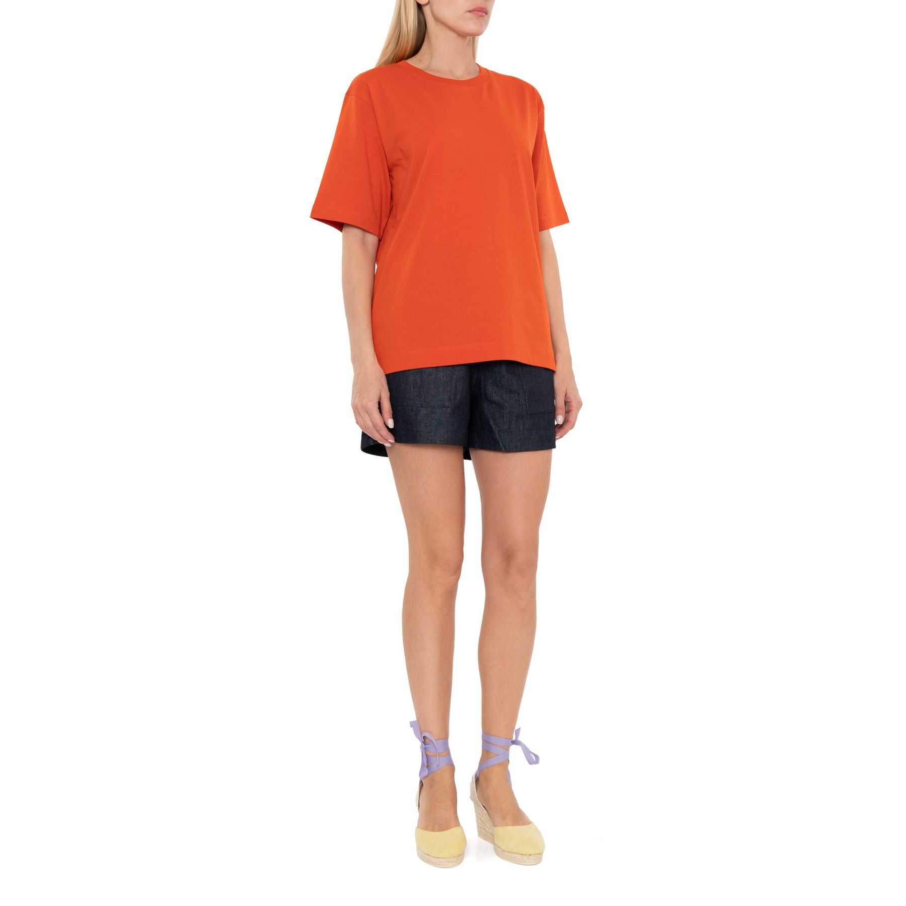 Футболка Dries Van Noten оранжевая