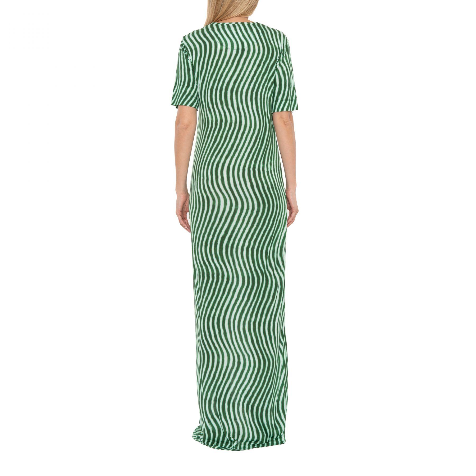 Платье Dries Van Noten зеленое