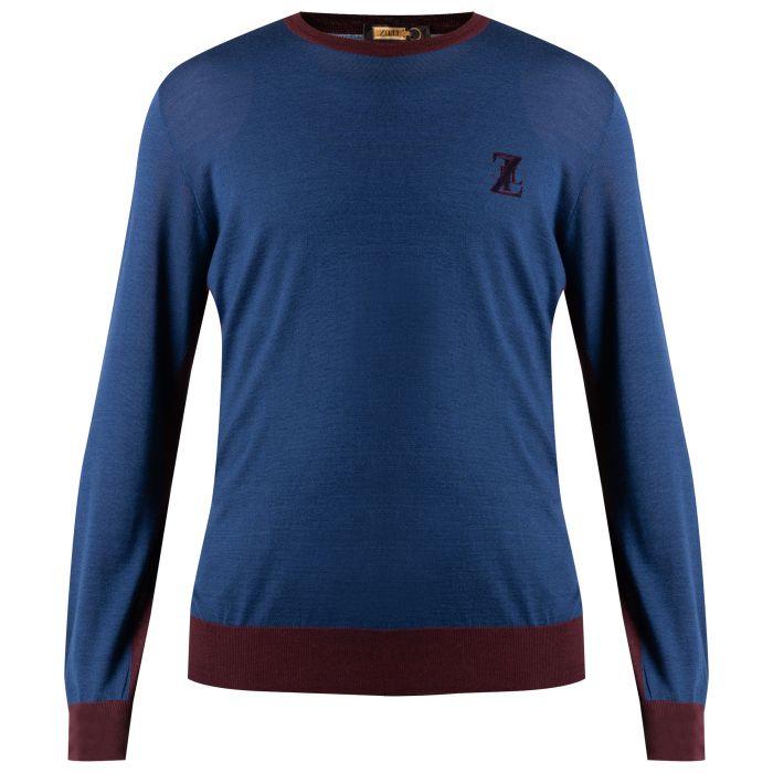 Пуловер Zilli синий