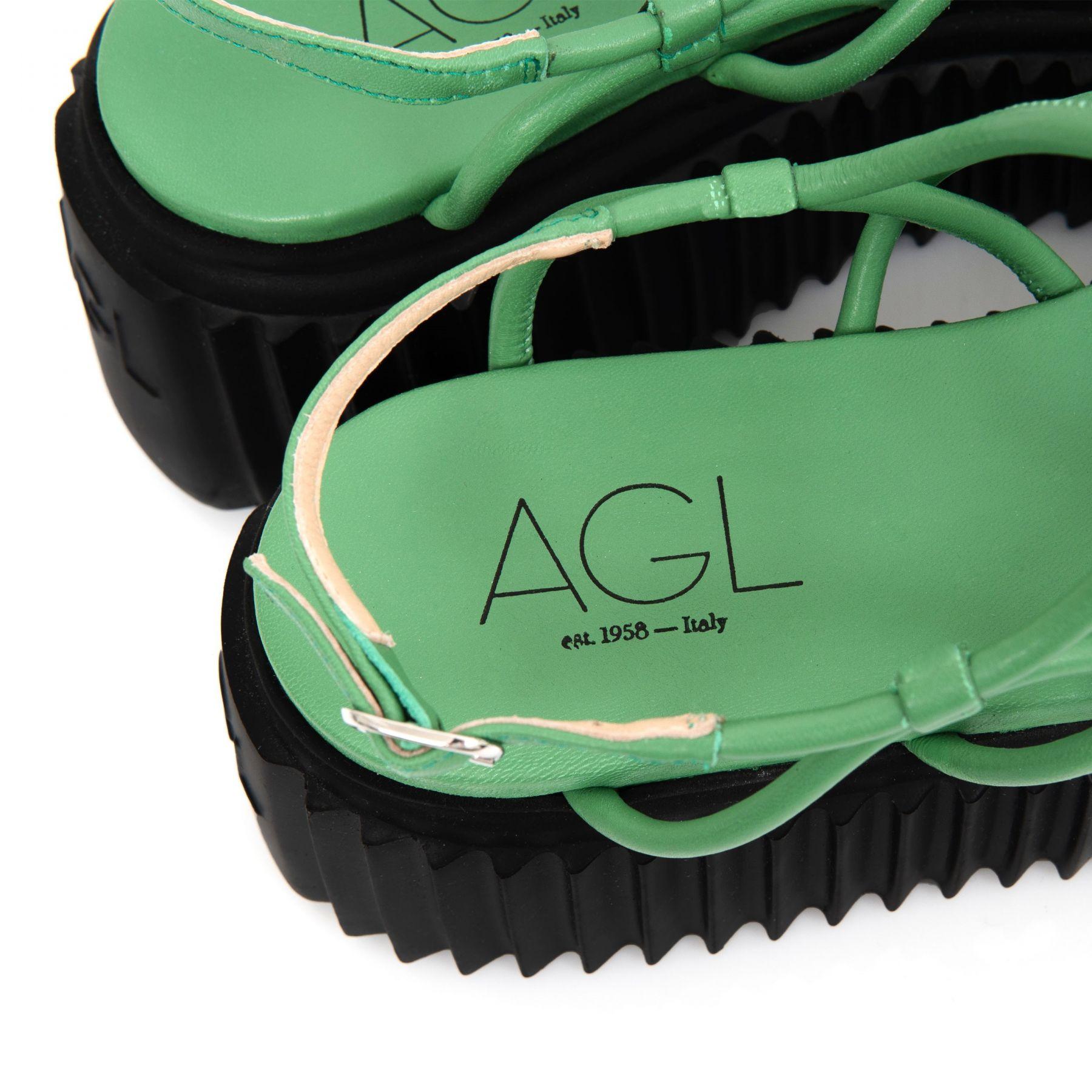 Босоножки AGL Messy зеленые