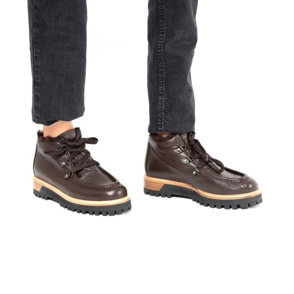 Ботинки флет на меху Le Silla бордо