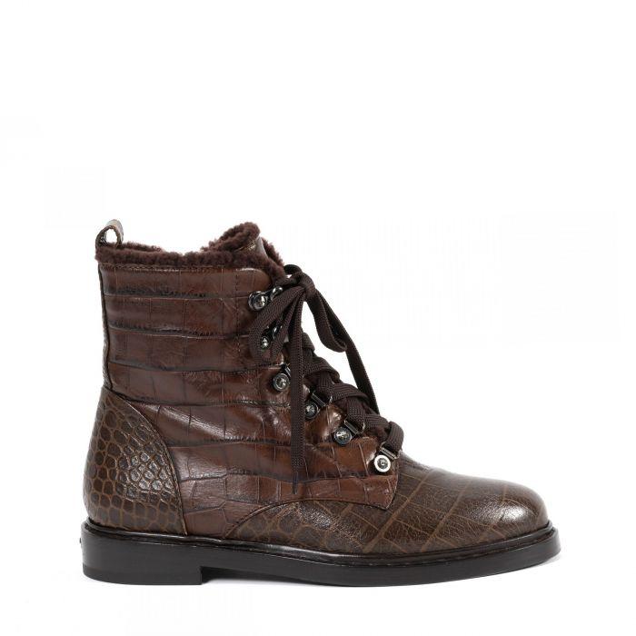 Ботинки флет на меху Le Silla коричневые