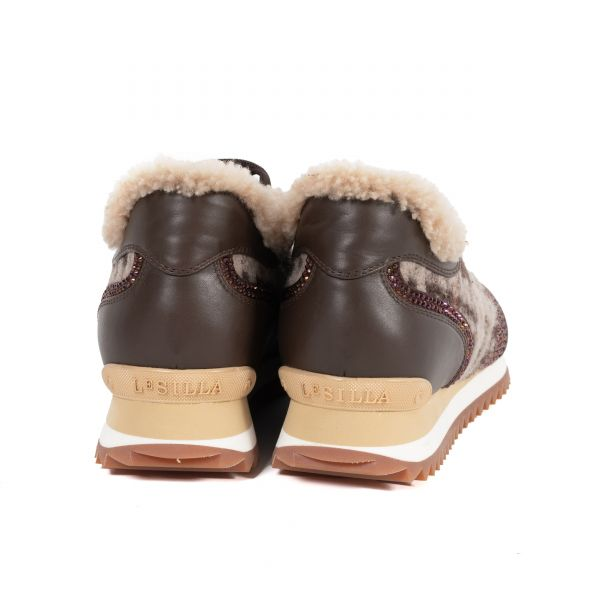 Кроссовки на меху Le Silla бордо
