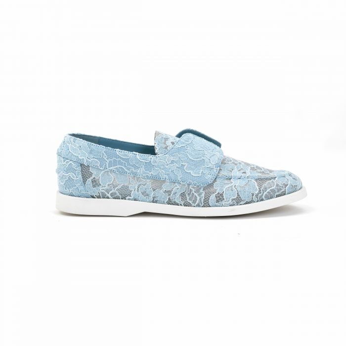 Мокасины Le Silla Claire Moccasin голубые