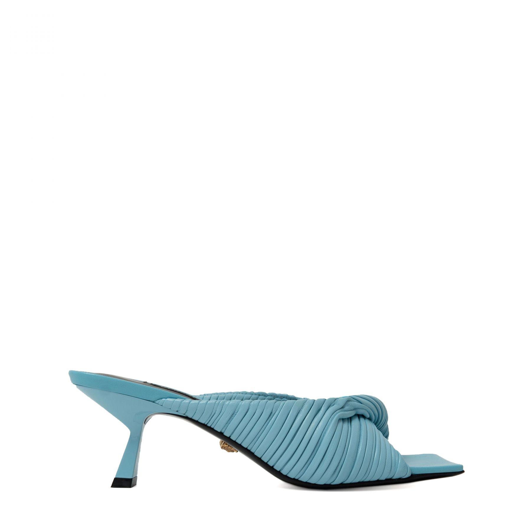 Мюли Versace Plisse голубые