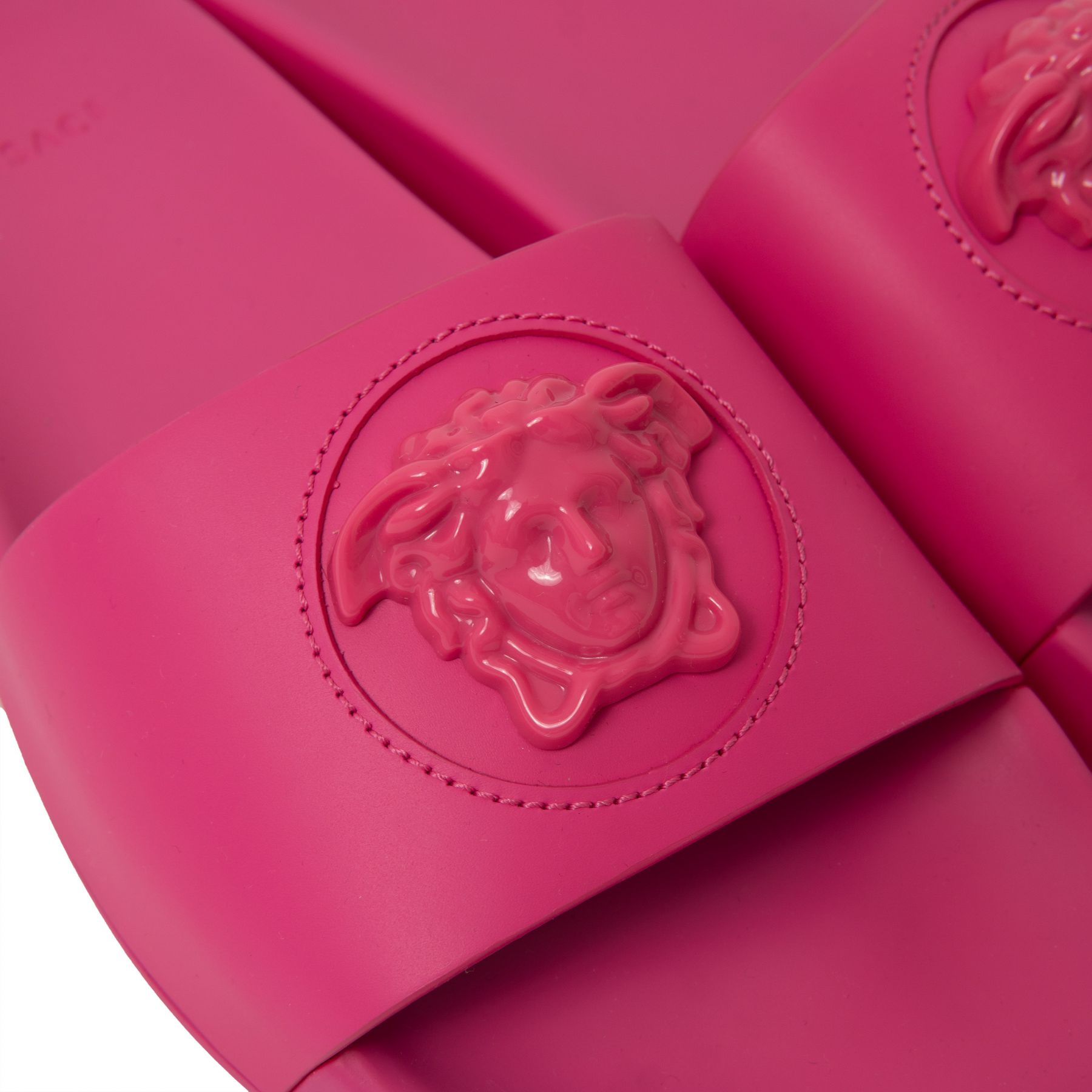 Шлепанцы Versace La Medusa фуксия