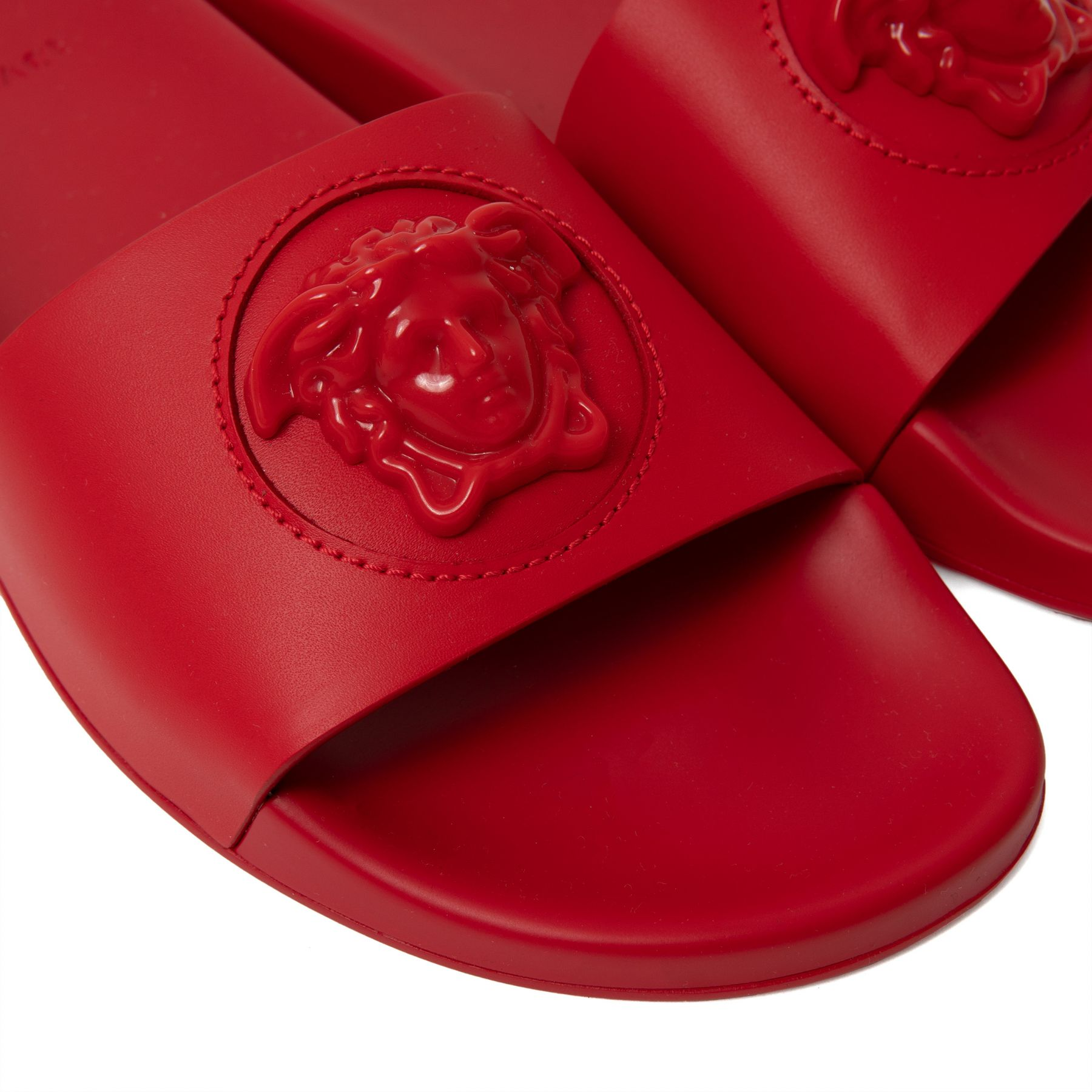 Шлепанцы Versace La Medusa красные