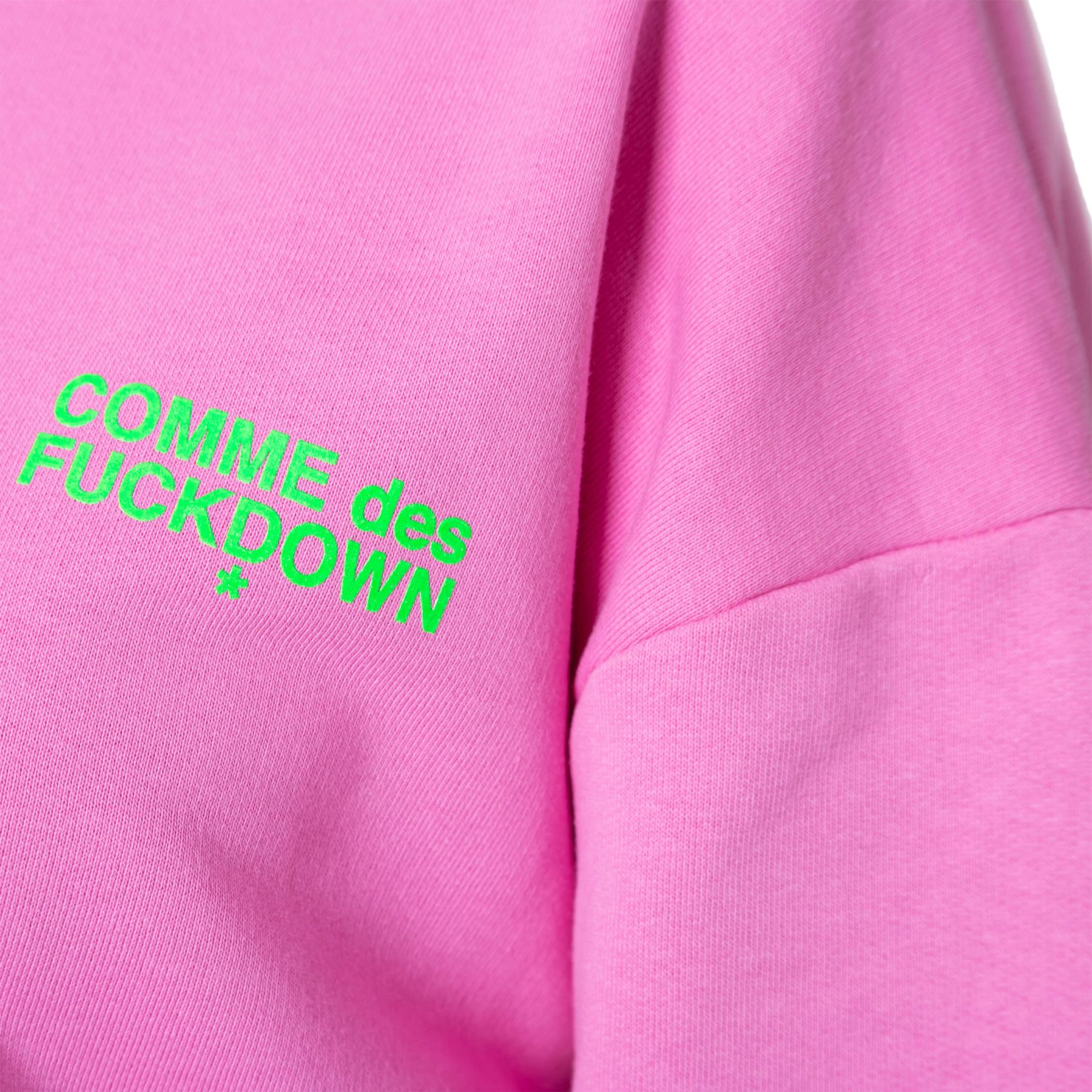 Худи COMME des FUCKDOWN розовое