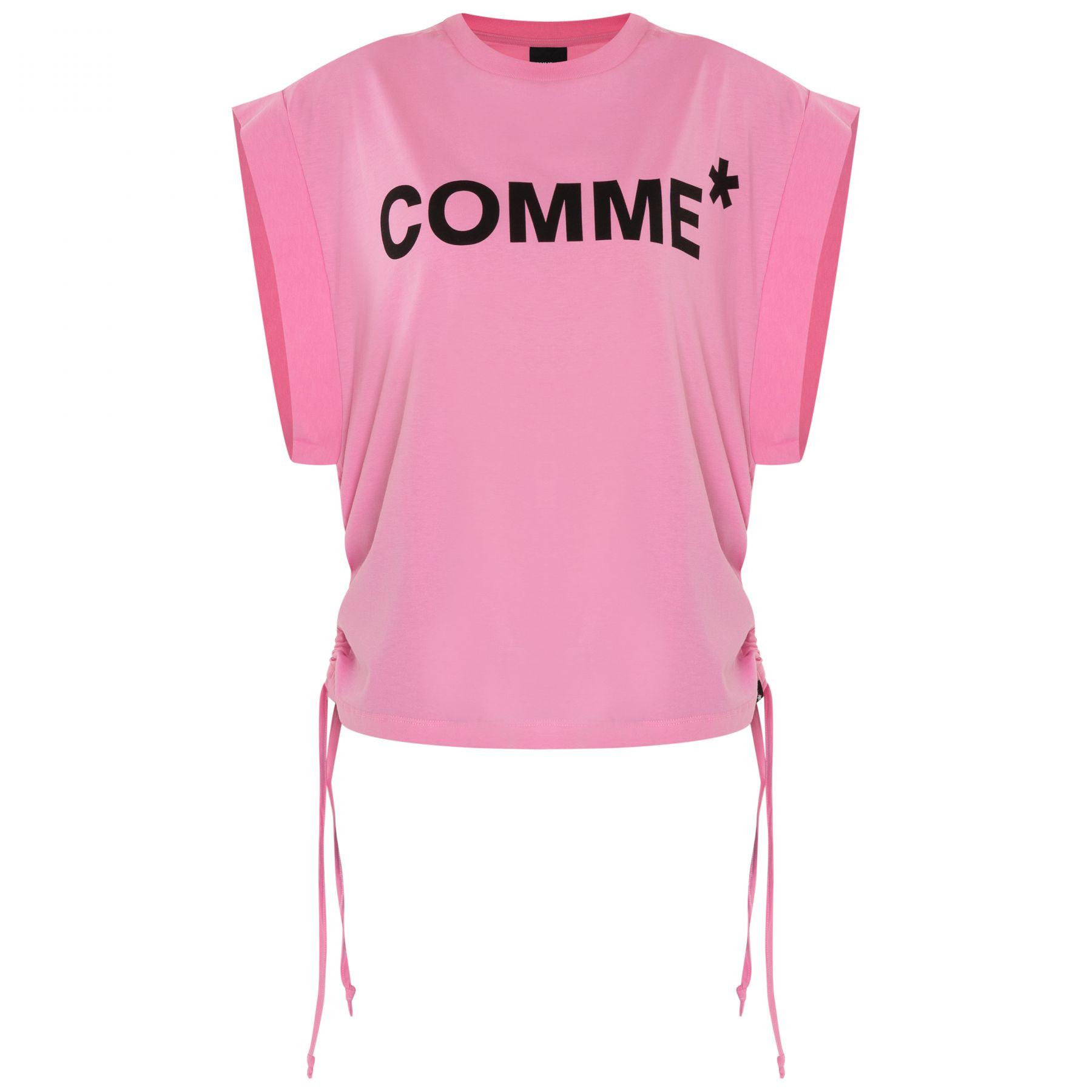 Футболка COMME des FUCKDOWN розовая