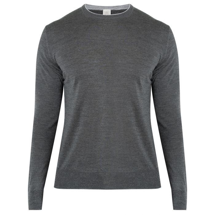 Пуловер Eleventy серый