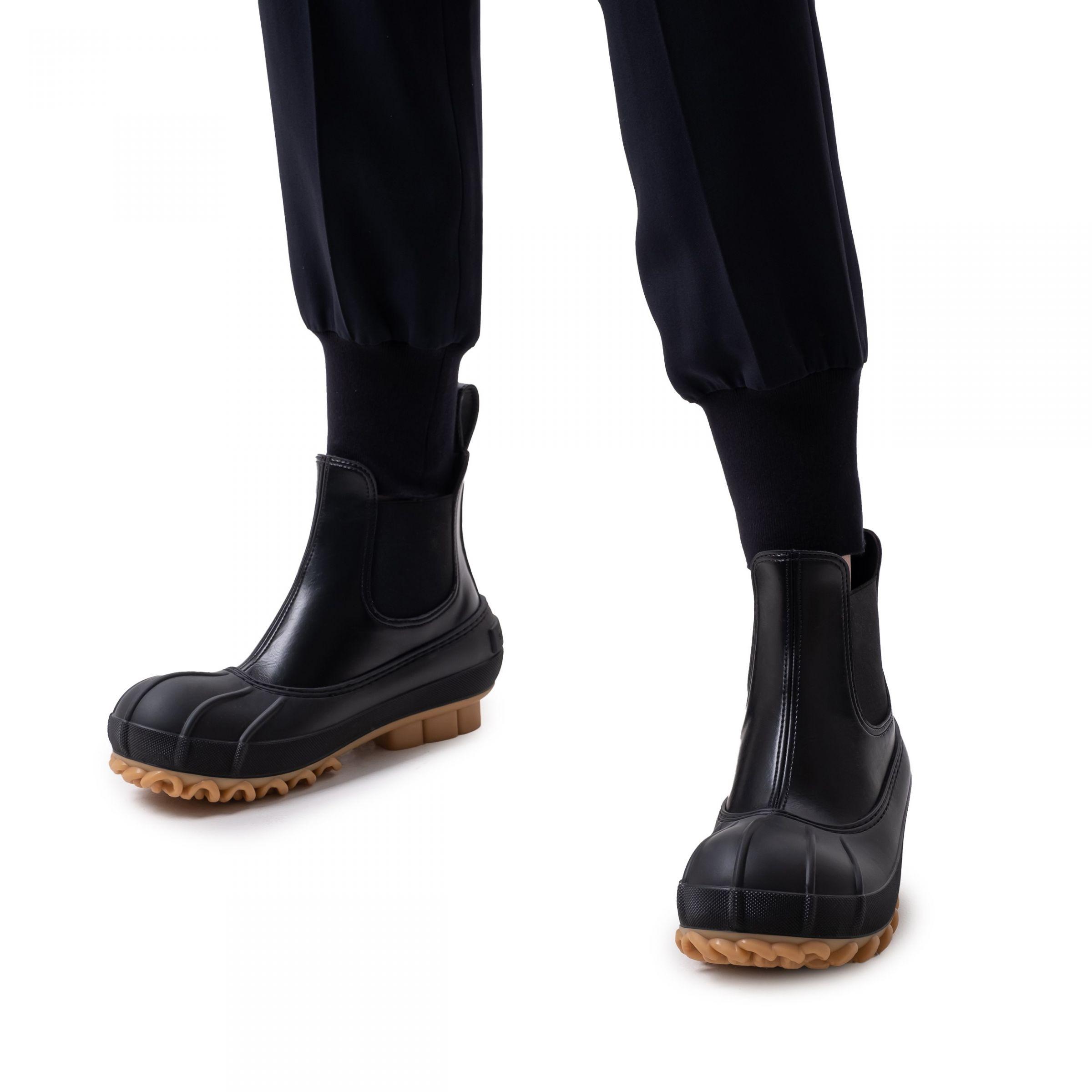 Ботинки флет Stella McCartney Duck City черные