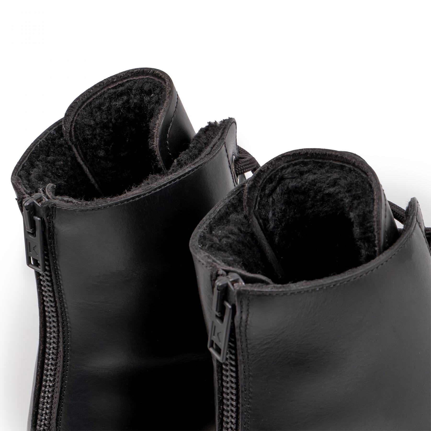 Ботинки флет на меху Kenzo черные