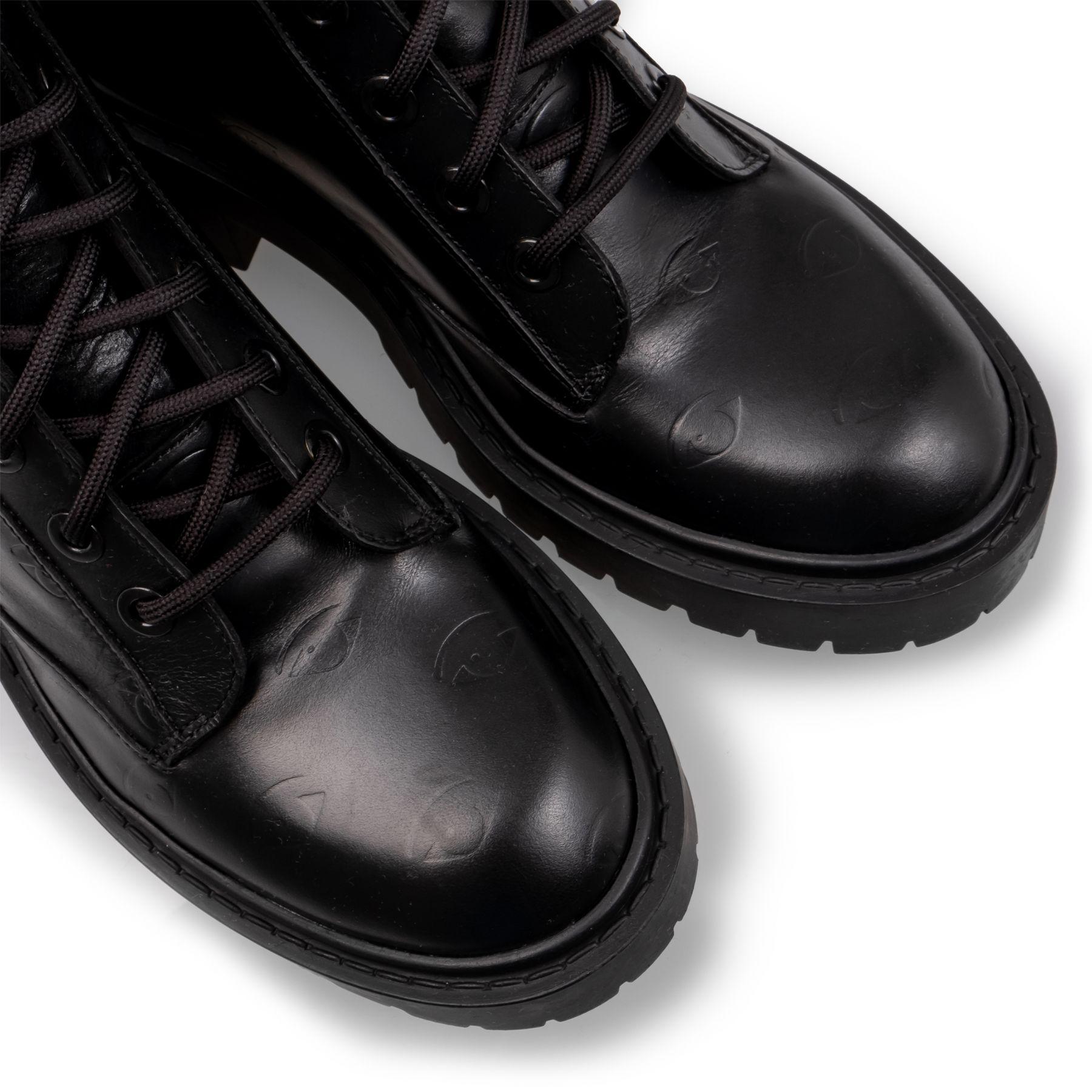 Ботинки флет Kenzo черные