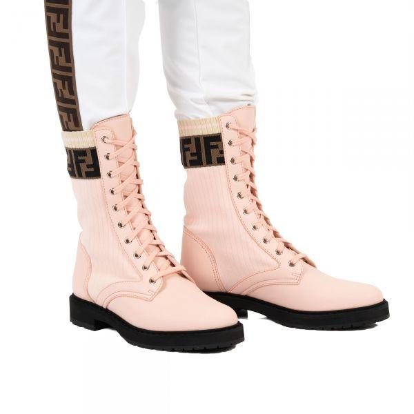 Ботинки Fendi Rockoko пудровые