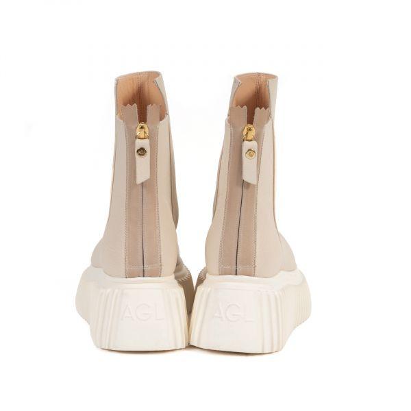Ботинки флет AGL светло-бежевые