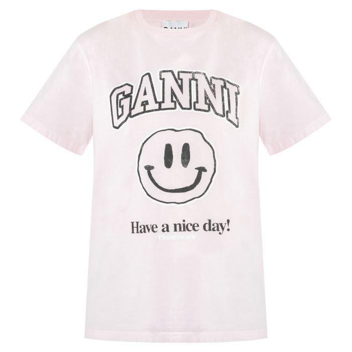 Футболка Ganni розовая
