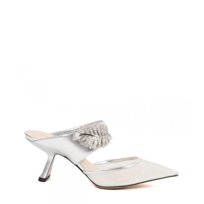 Туфли Nicholas Kirkwood Monstera серебряные