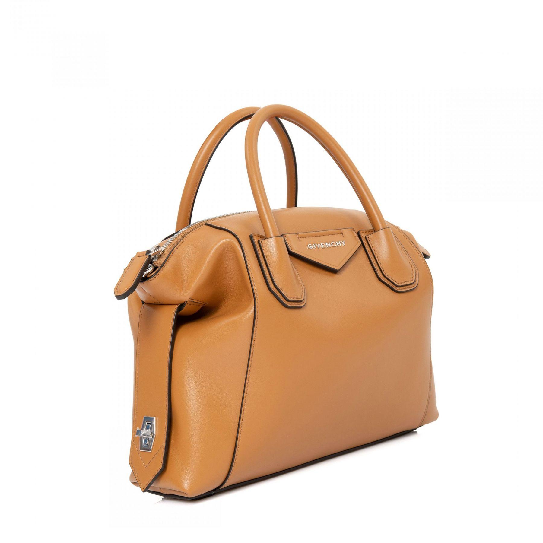 Сумка Givenchy Antigona Soft рыже-коричневая