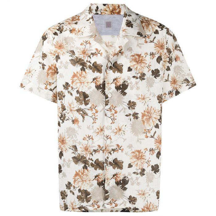 Рубашка кор.рук. Eleventy бело-коричневая