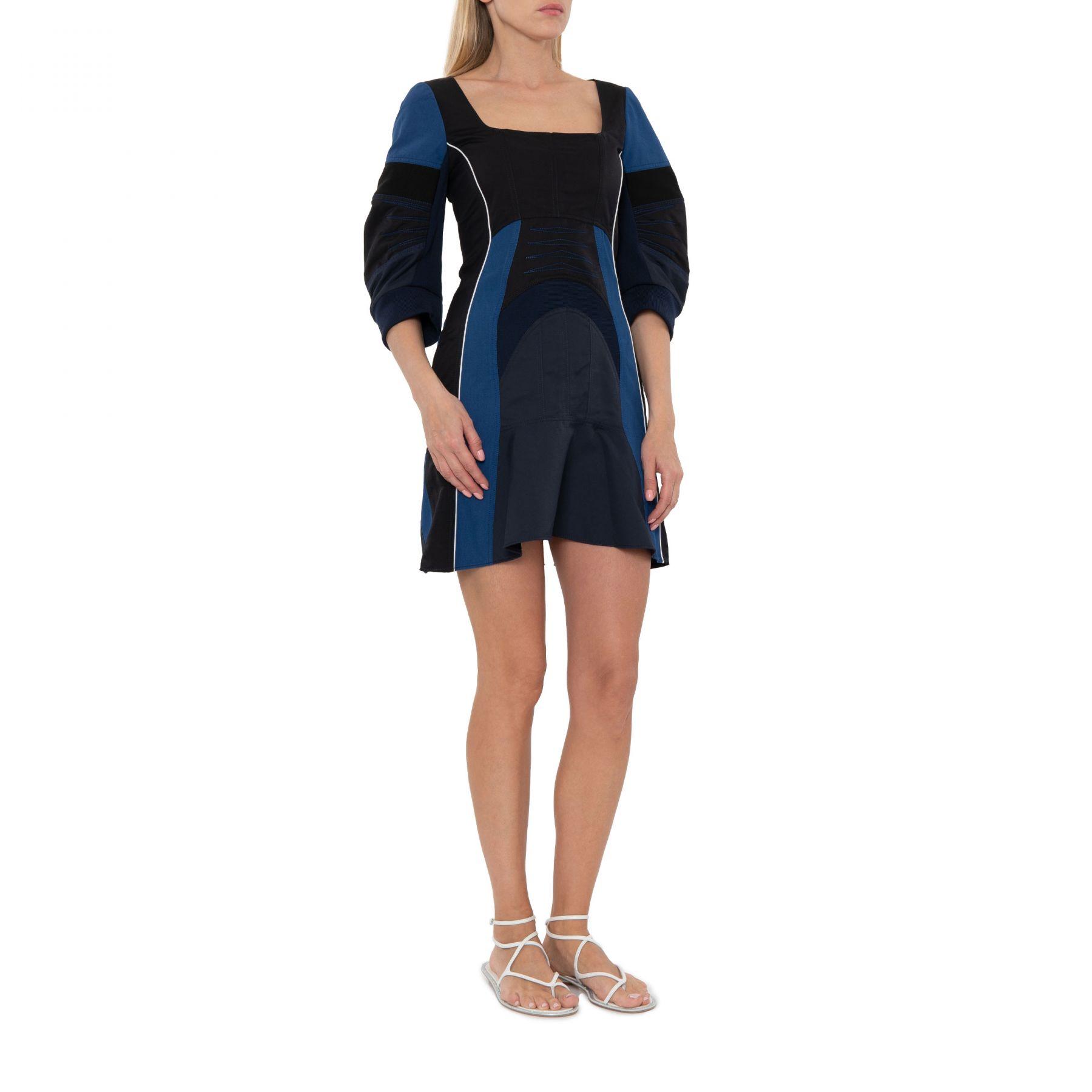 Платье Stella McCartney Giselle черно-синее