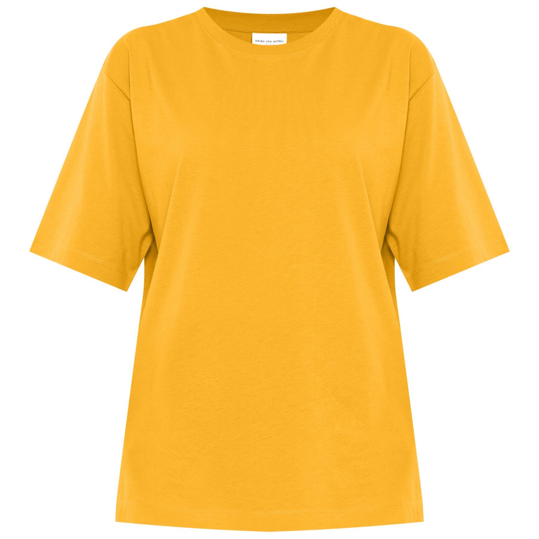 Футболка Dries Van Noten желтая