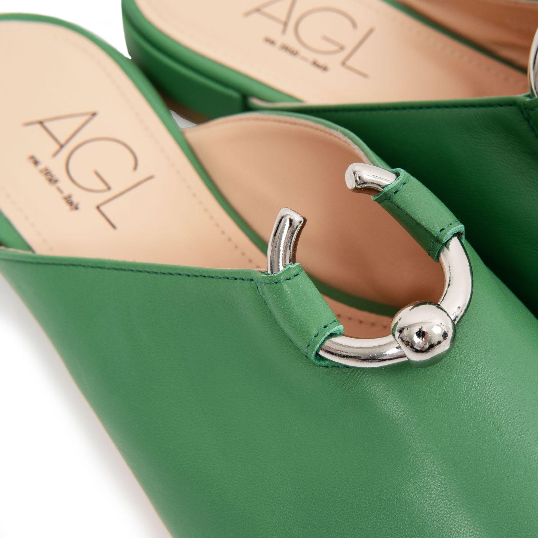 Мюли AGL Virgee зеленые