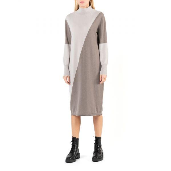 Платье Lorena Antoniazzi серо-бежевое