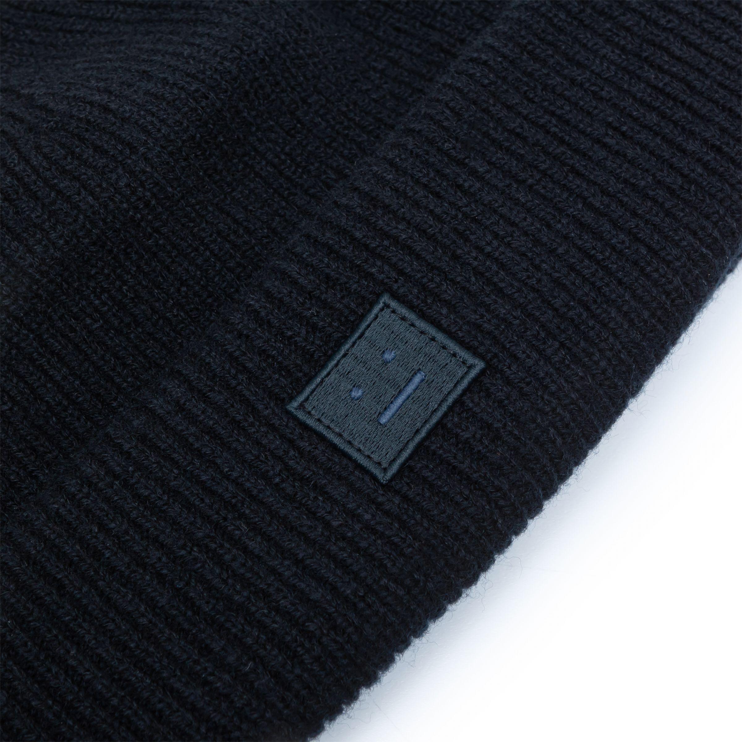 Шапка Acne Studios темно-синяя