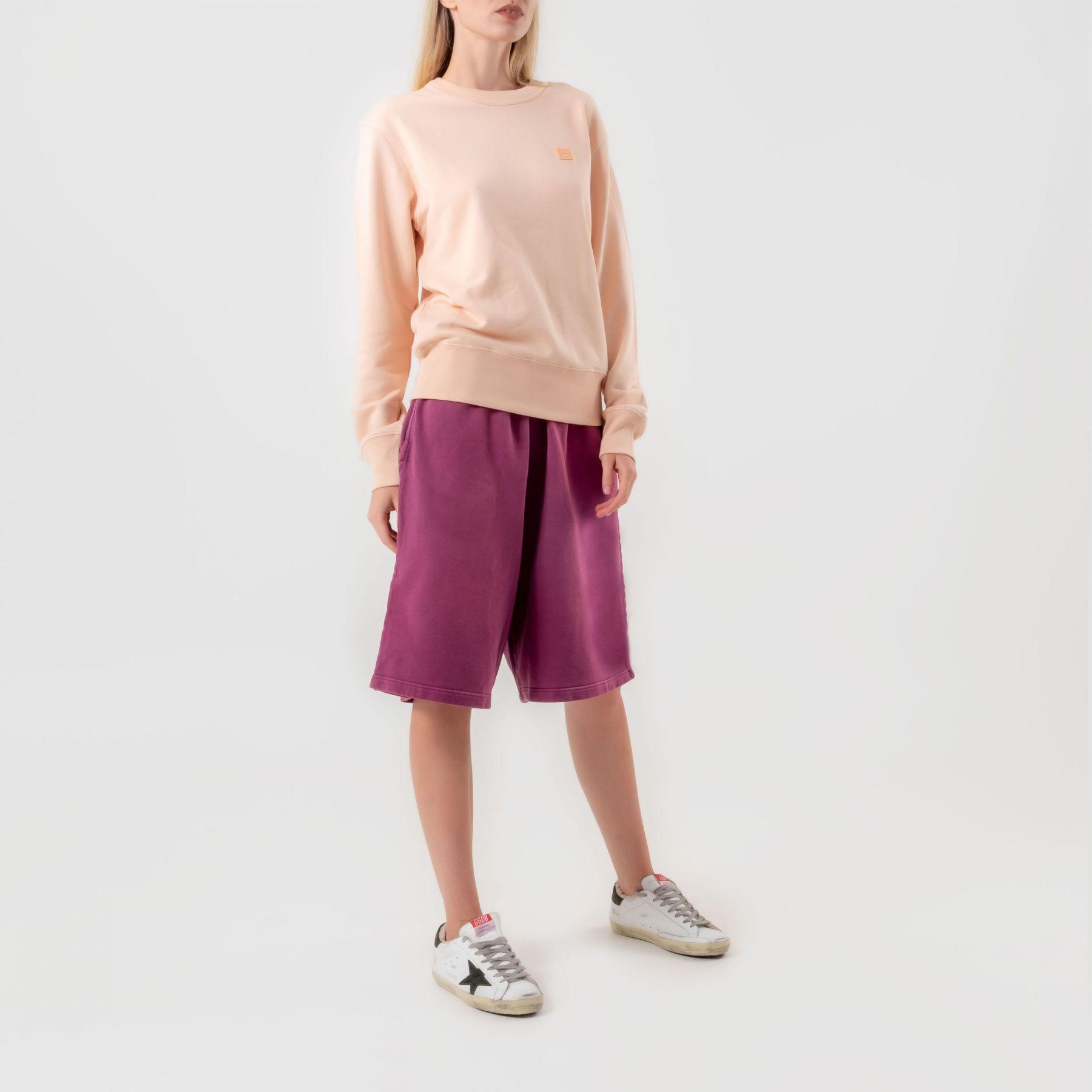 Толстовка Acne Studios светло-розовая