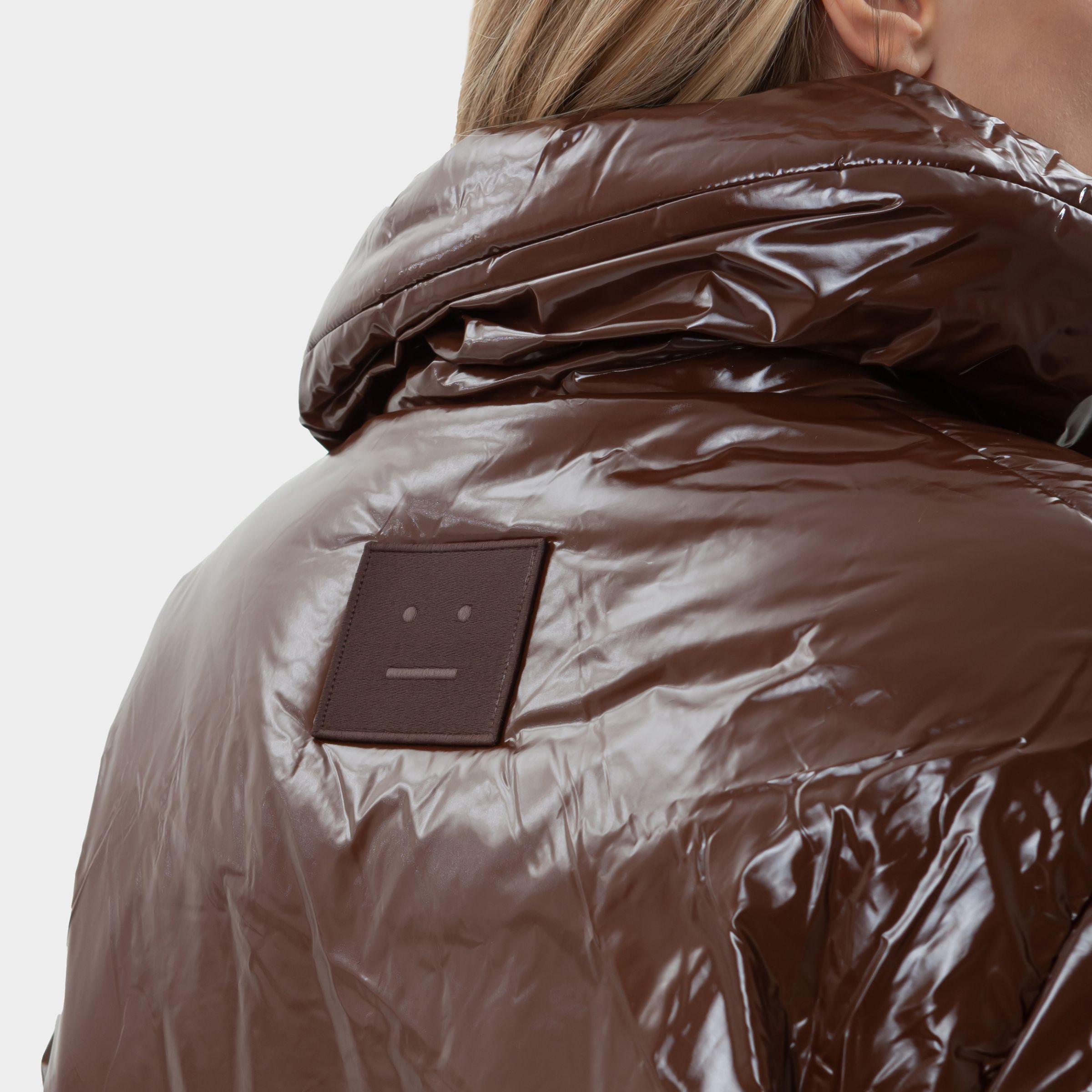 Пуховик Acne Studios коричневый