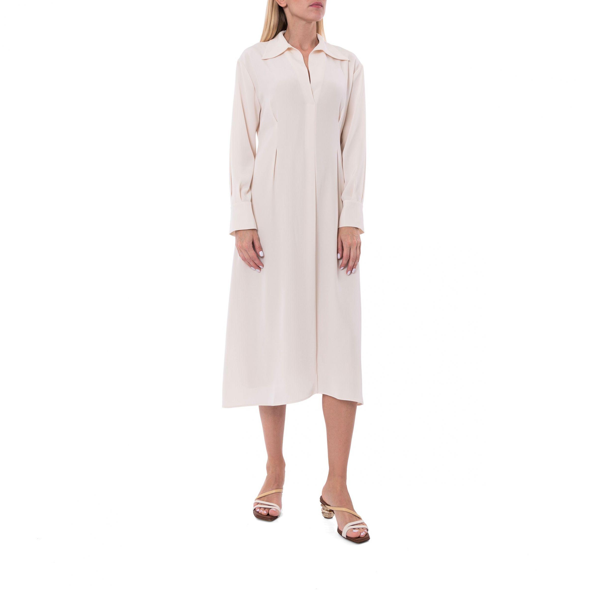 Платье Vince молочное