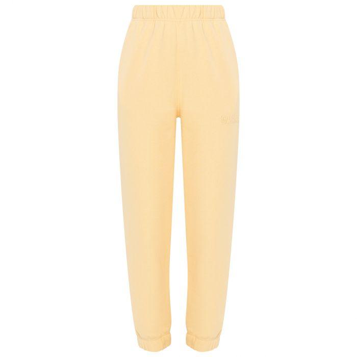 Спортивные брюки Ganni желтые