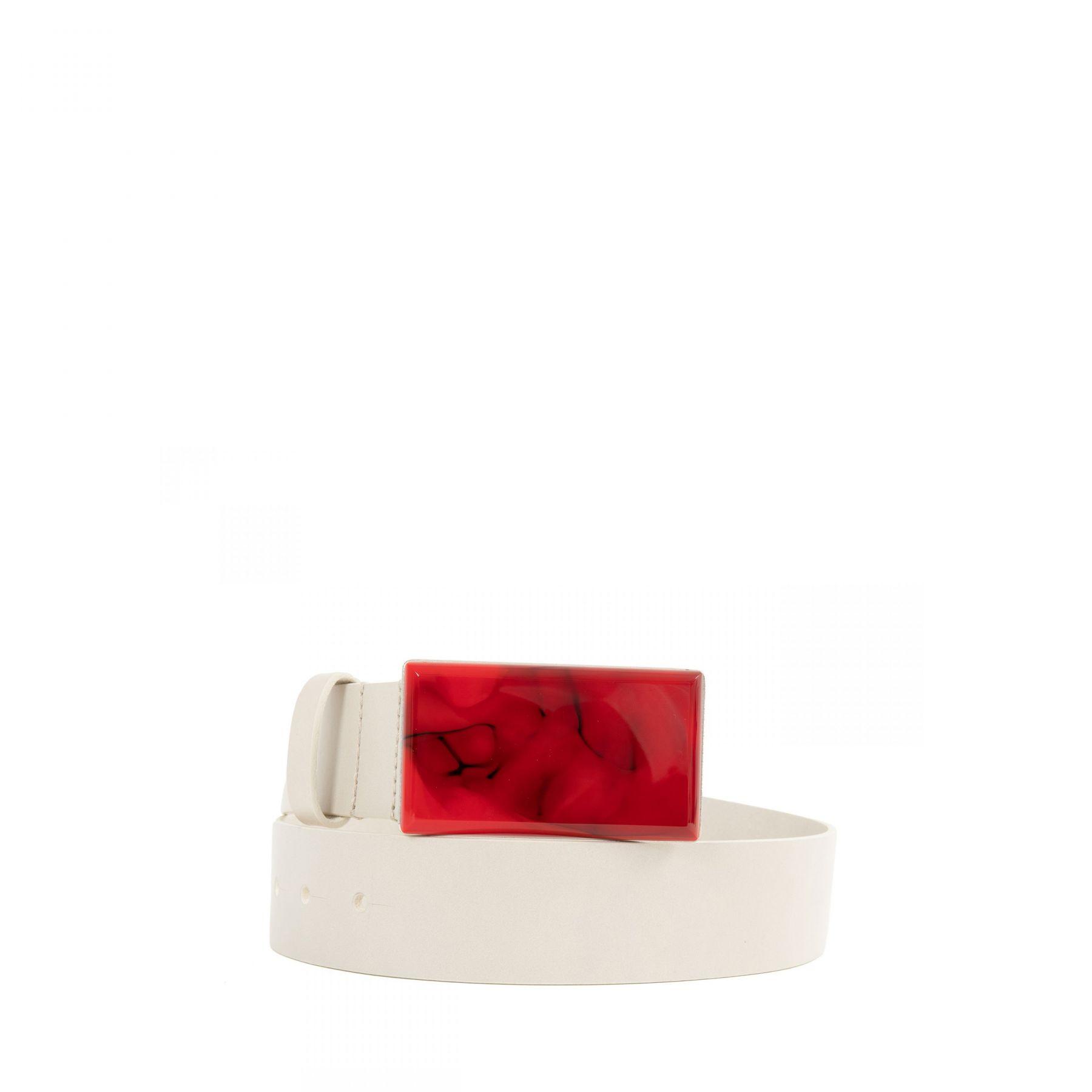 Ремень Isabel Marant Lupo бело-красный