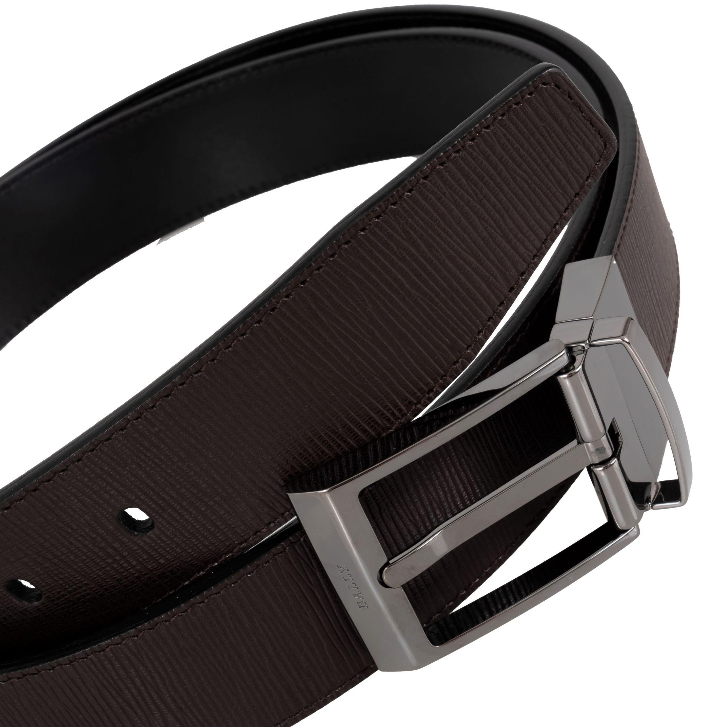 Ремень Bally Shiff черно-коричневый