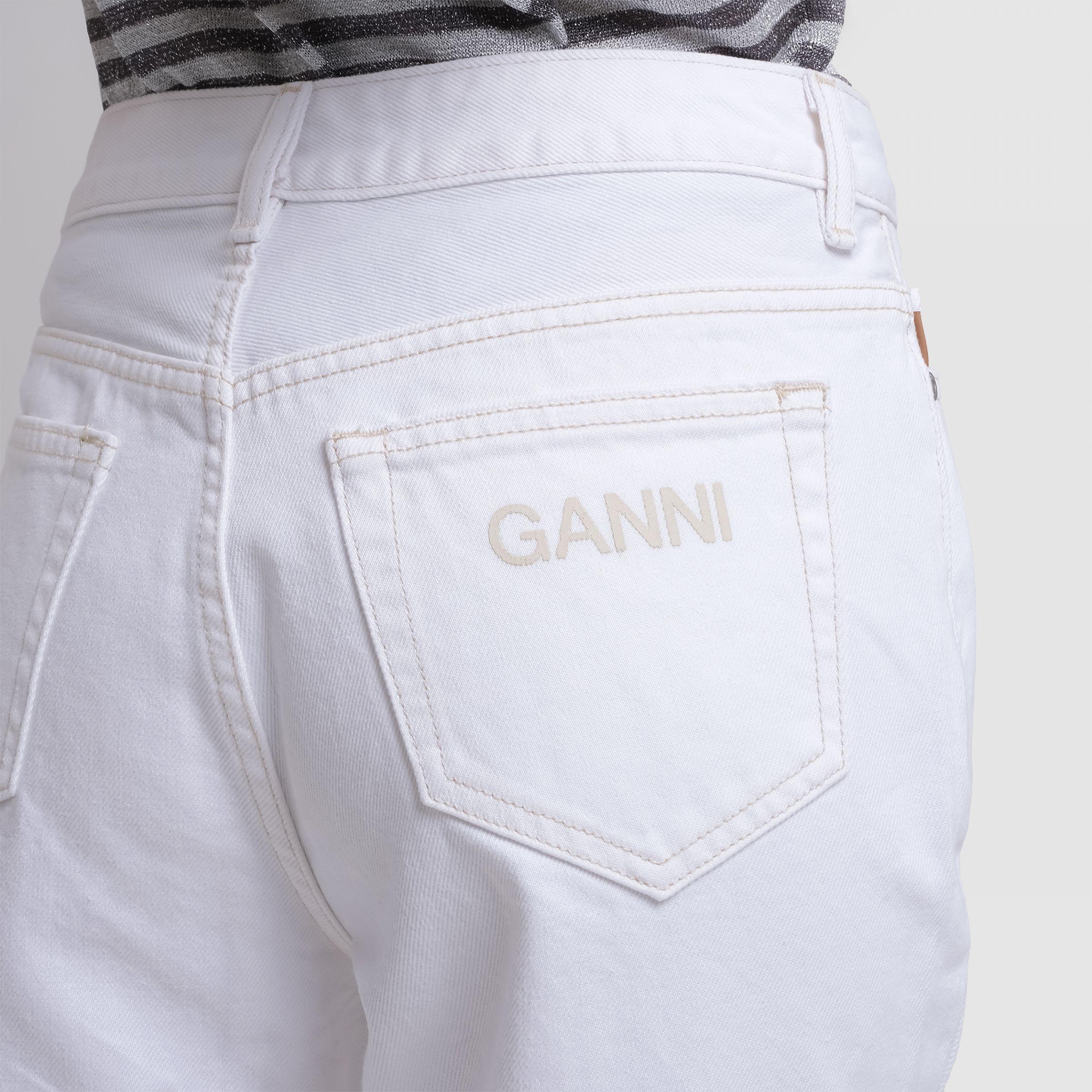 Джинсы Ganni белые