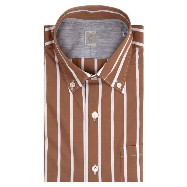 Рубашка с длинными рукавами Eleventy коричневая