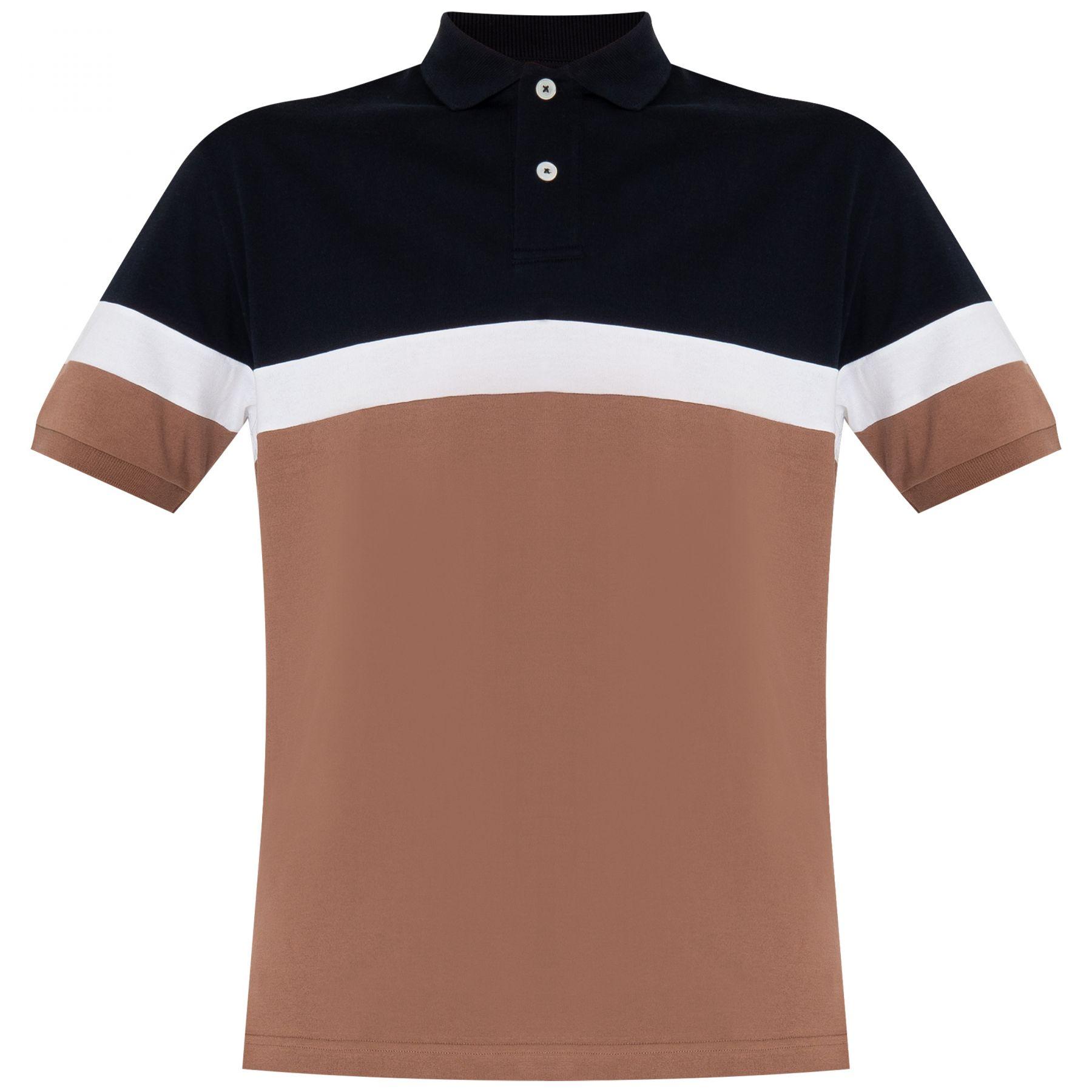 Поло Eleventy коричневое