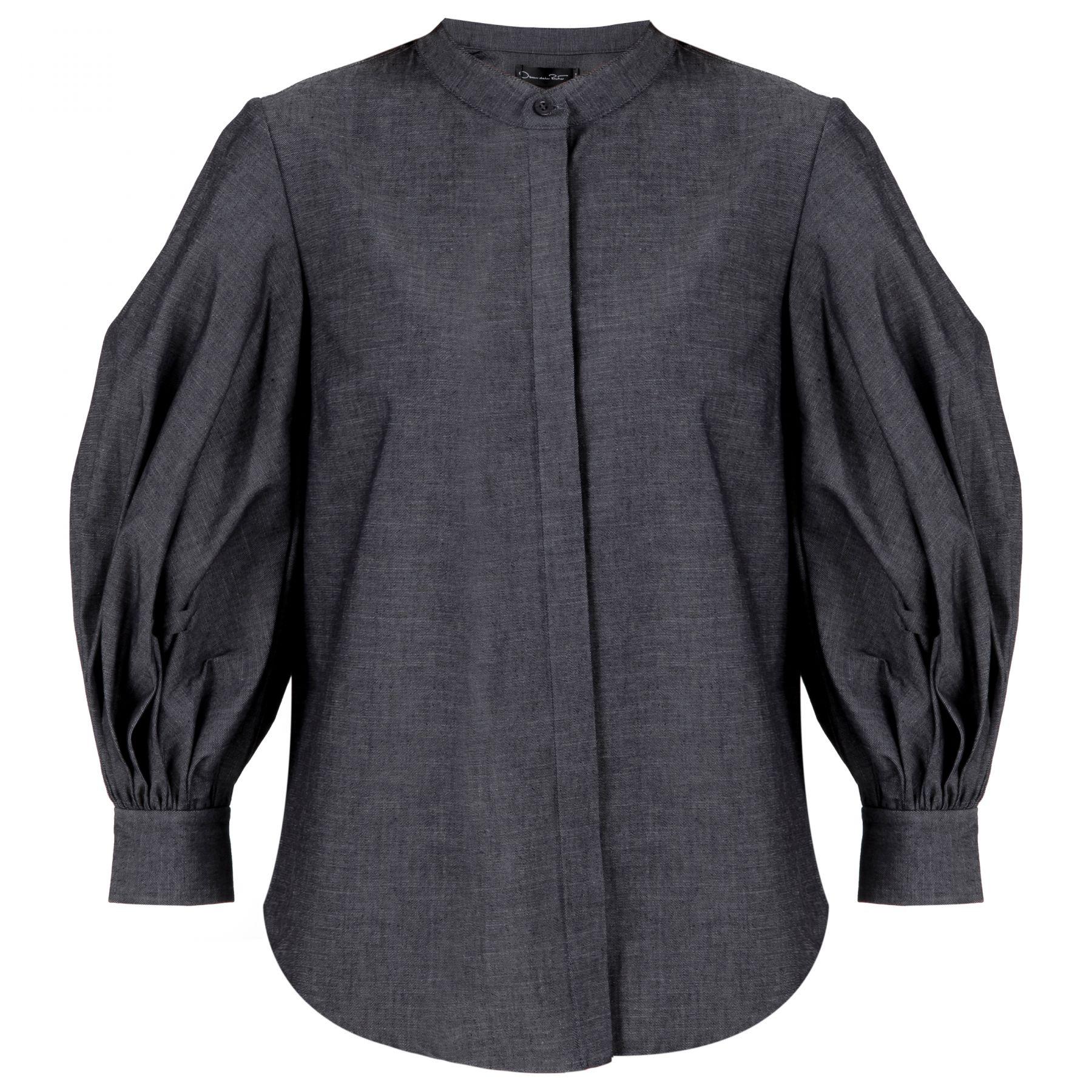 Рубашка с длинными рукавами Oscar de la Renta серая