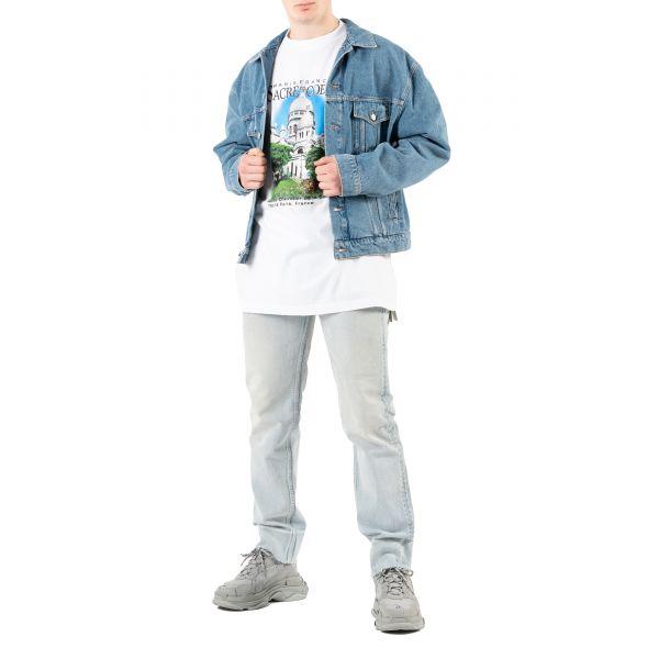 Куртка Balenciaga голубая