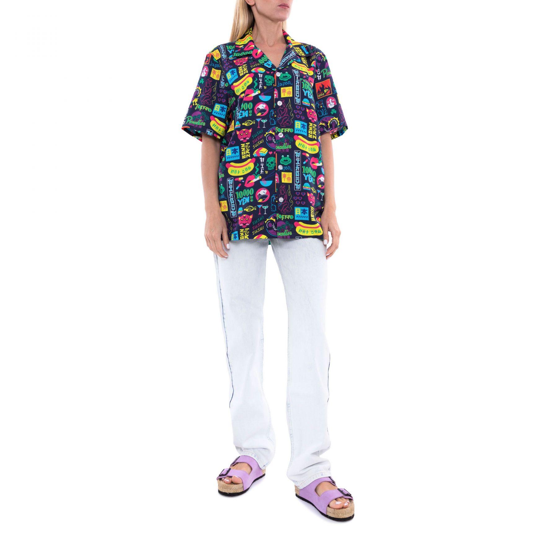 Рубашка с короткими рукавами NIKBEN TOKYO PARADISE разноцветная
