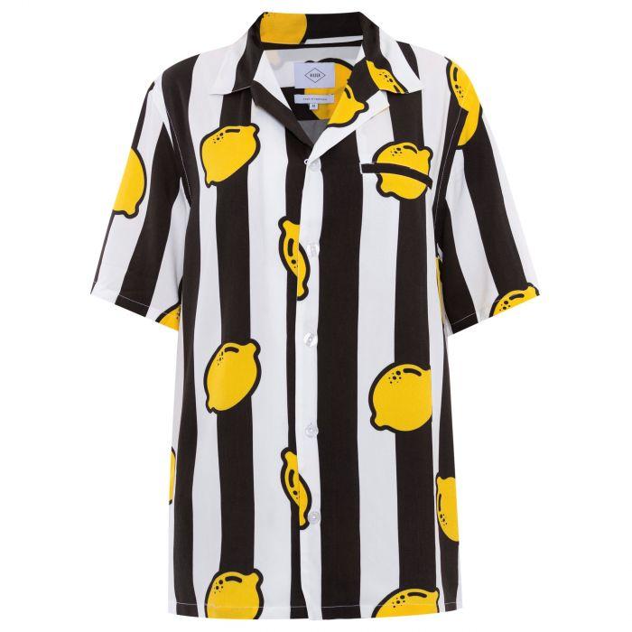 Рубашка с короткими рукавами NIKBEN LIMONCELLO черно-белая