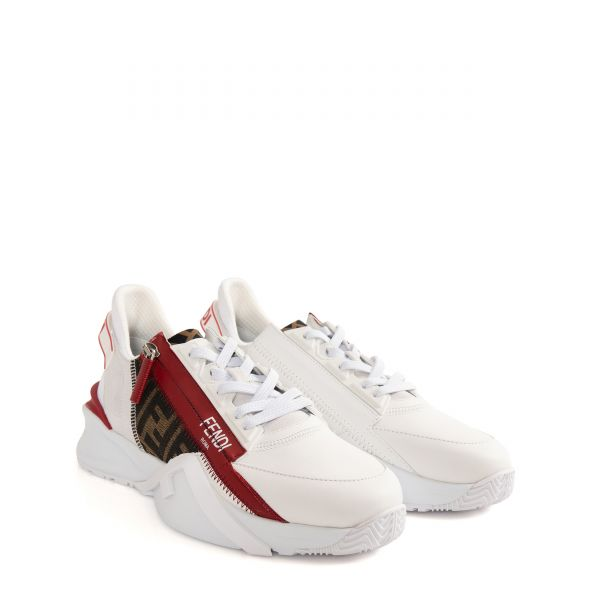 Кроссовки Fendi бело-красные