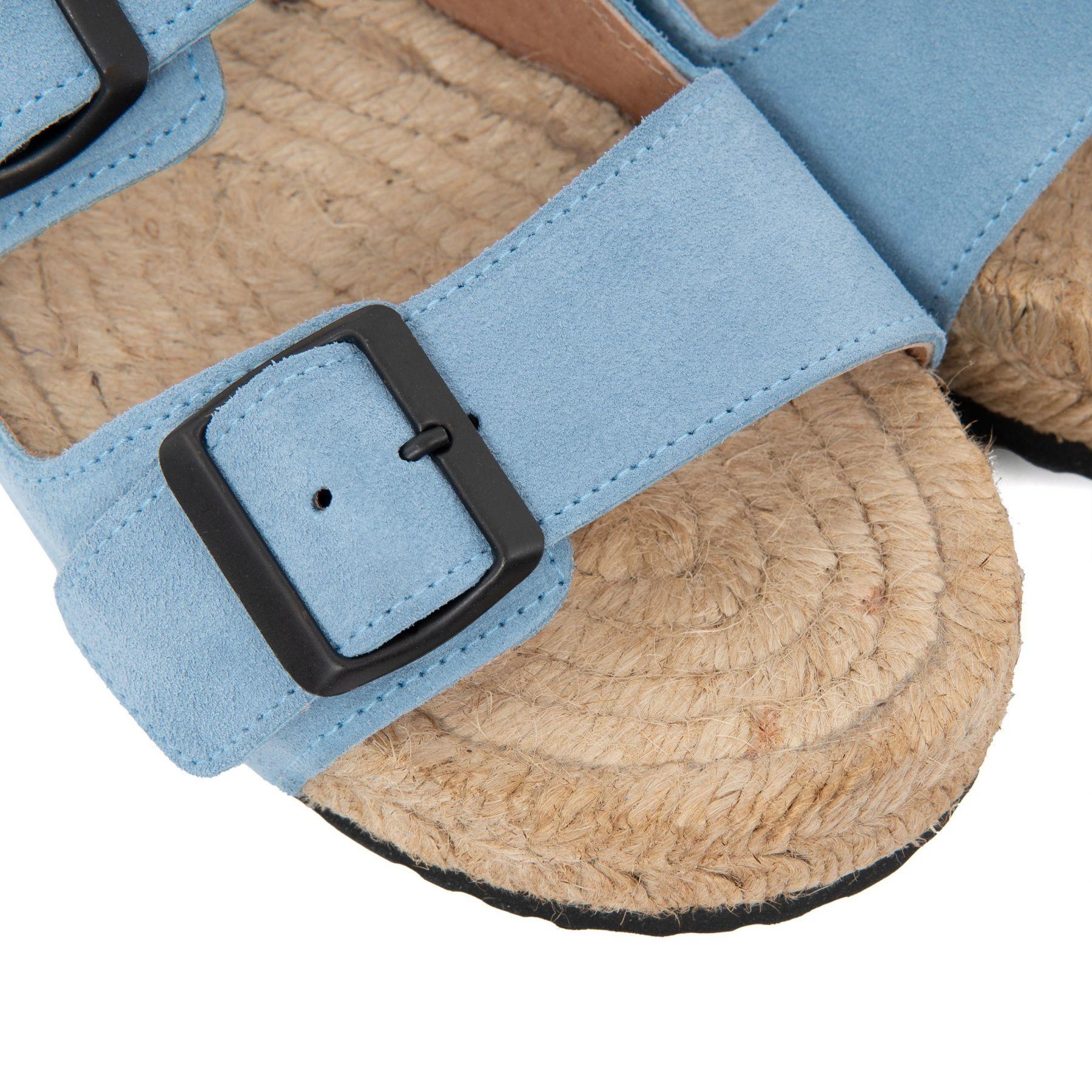 Биркенштоки Manebi Hamptons голубые