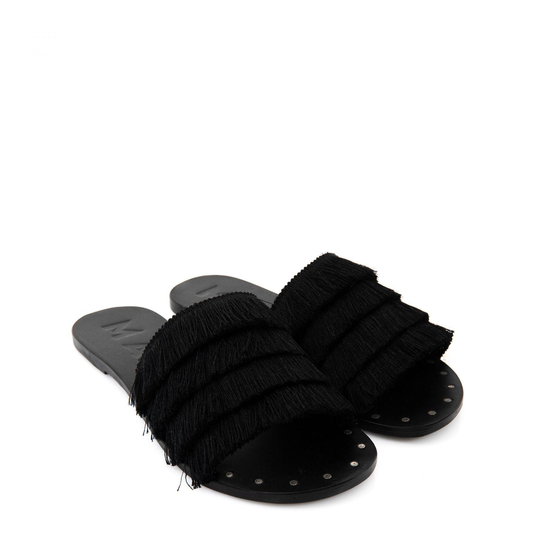 Шлепанцы Manebi Ibiza черные