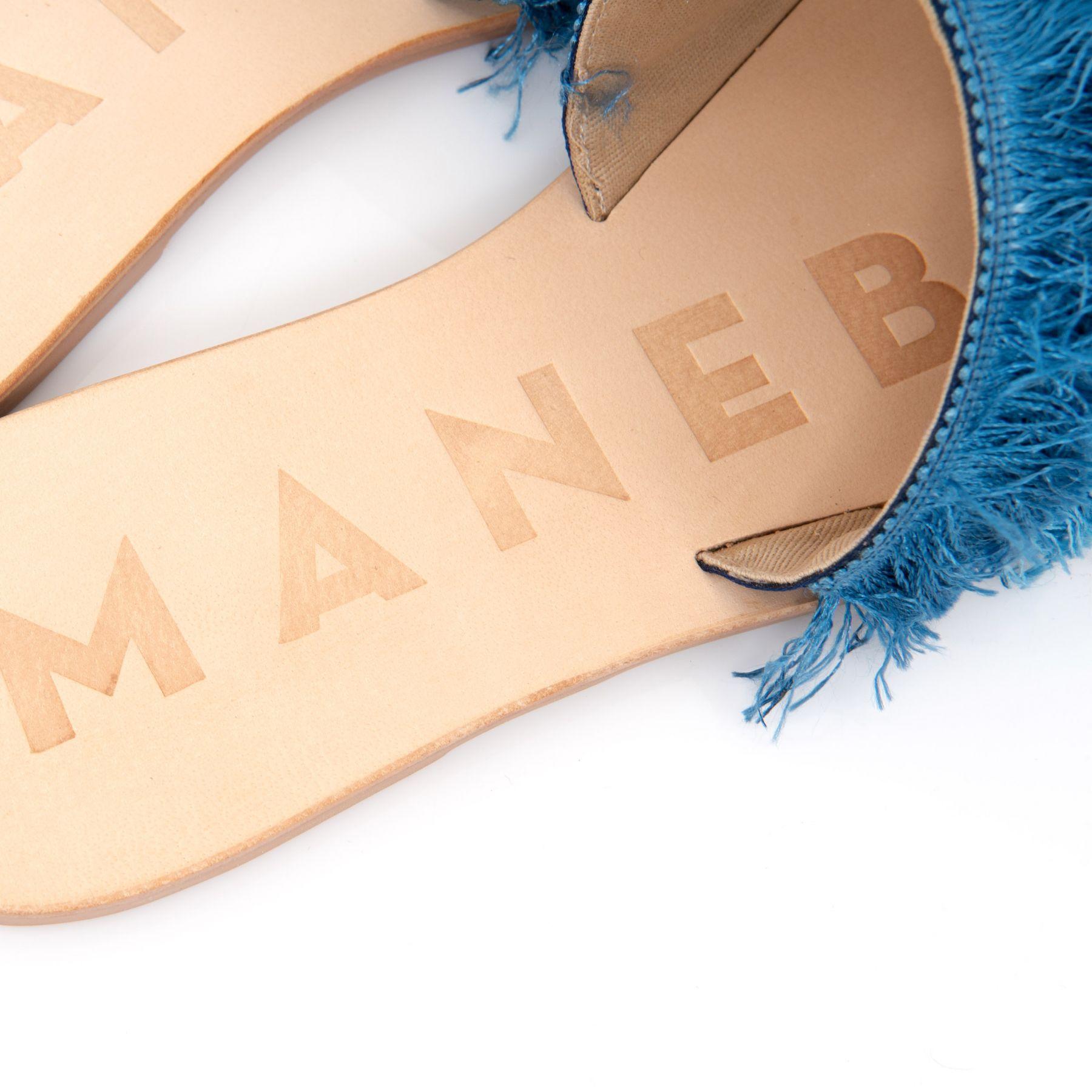 Шлепанцы Manebi Ibiza голубые