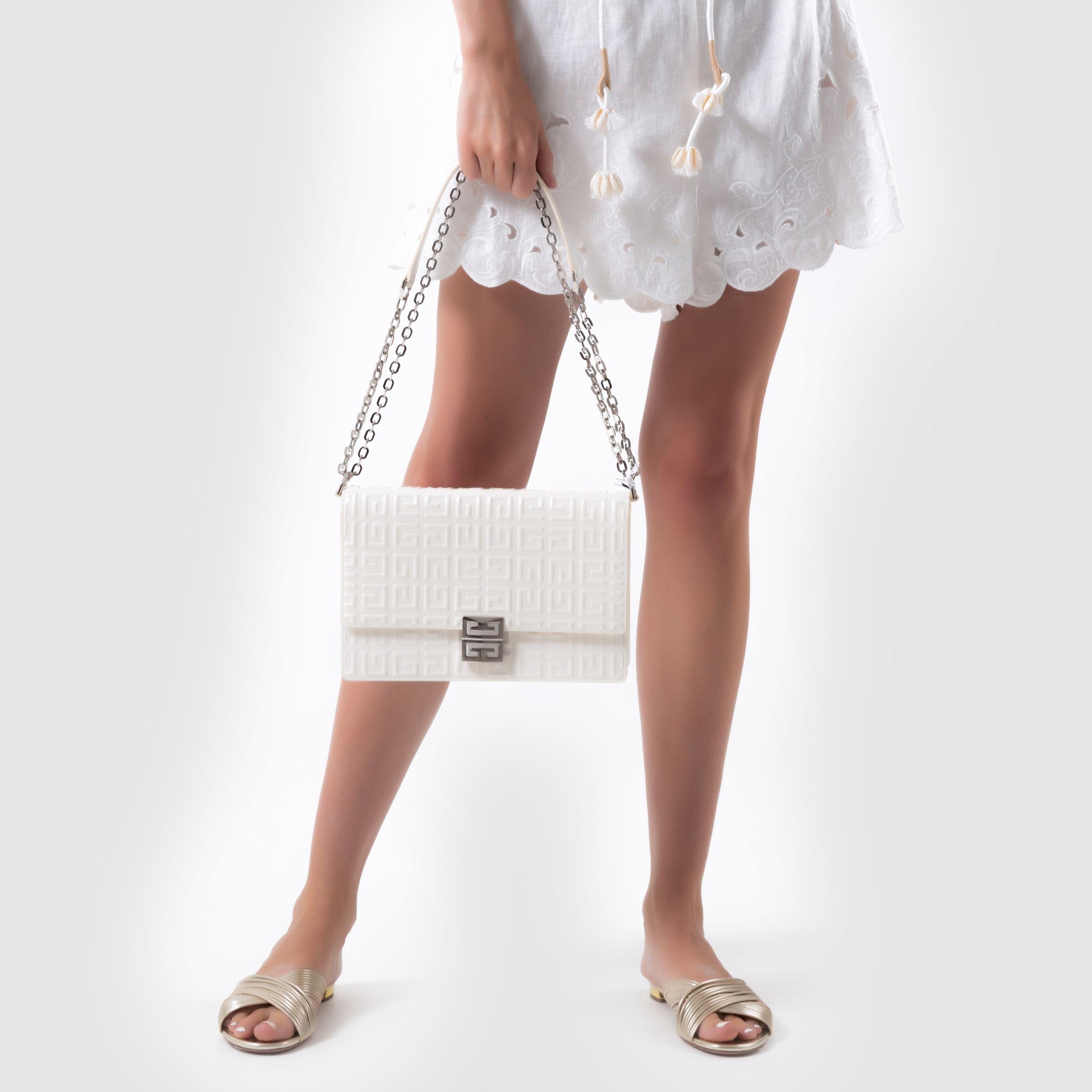 Сумка Givenchy 4G молочная