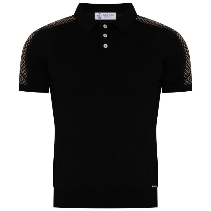 Поло Il Borgo Cashmere черное